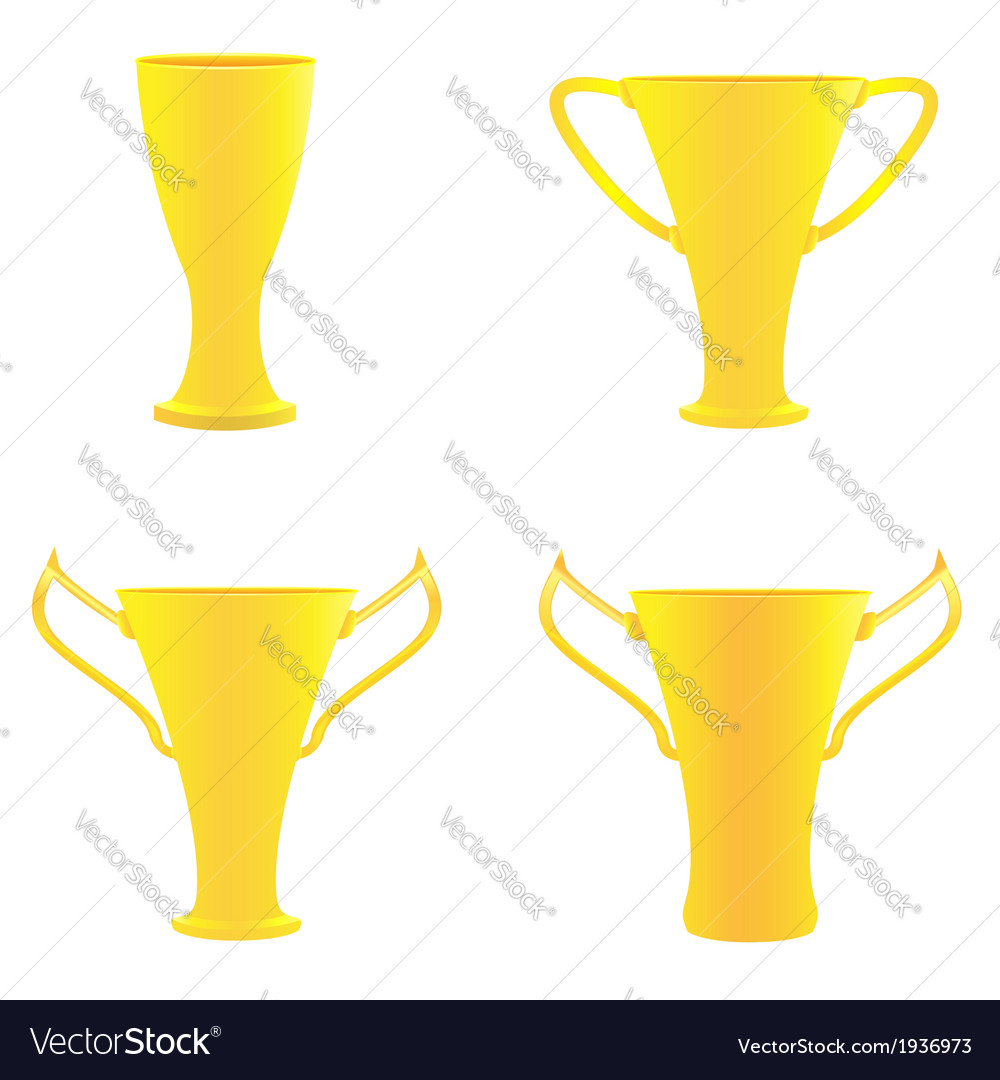Champion golden trophies vector | Price: 1 Credit (USD $1)