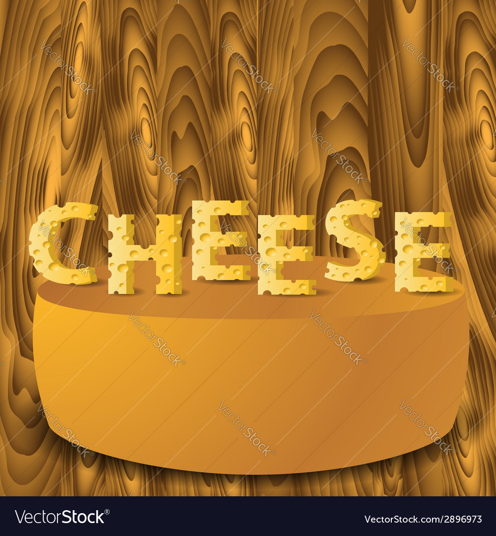 Cheese letters vector | Price: 1 Credit (USD $1)