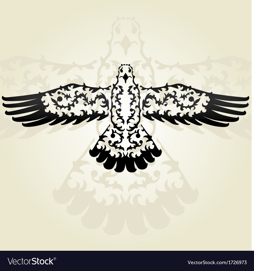 Decorative seagull vector | Price: 1 Credit (USD $1)