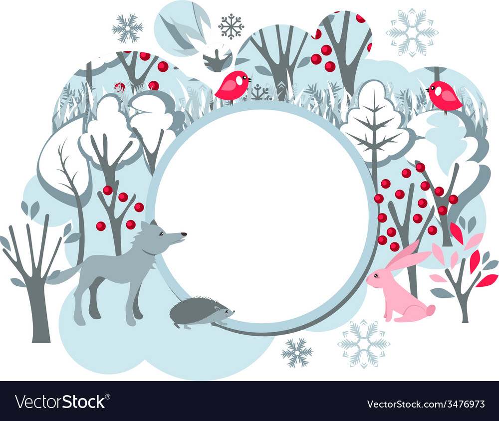 Festive banner with wild animals vector | Price: 1 Credit (USD $1)