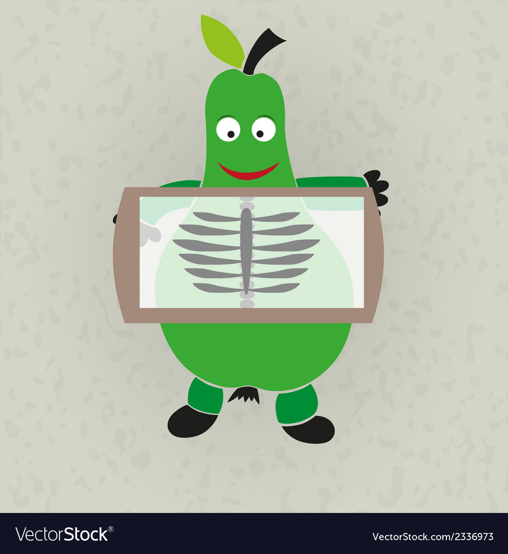 Funny - pear and rentgen vector | Price: 1 Credit (USD $1)