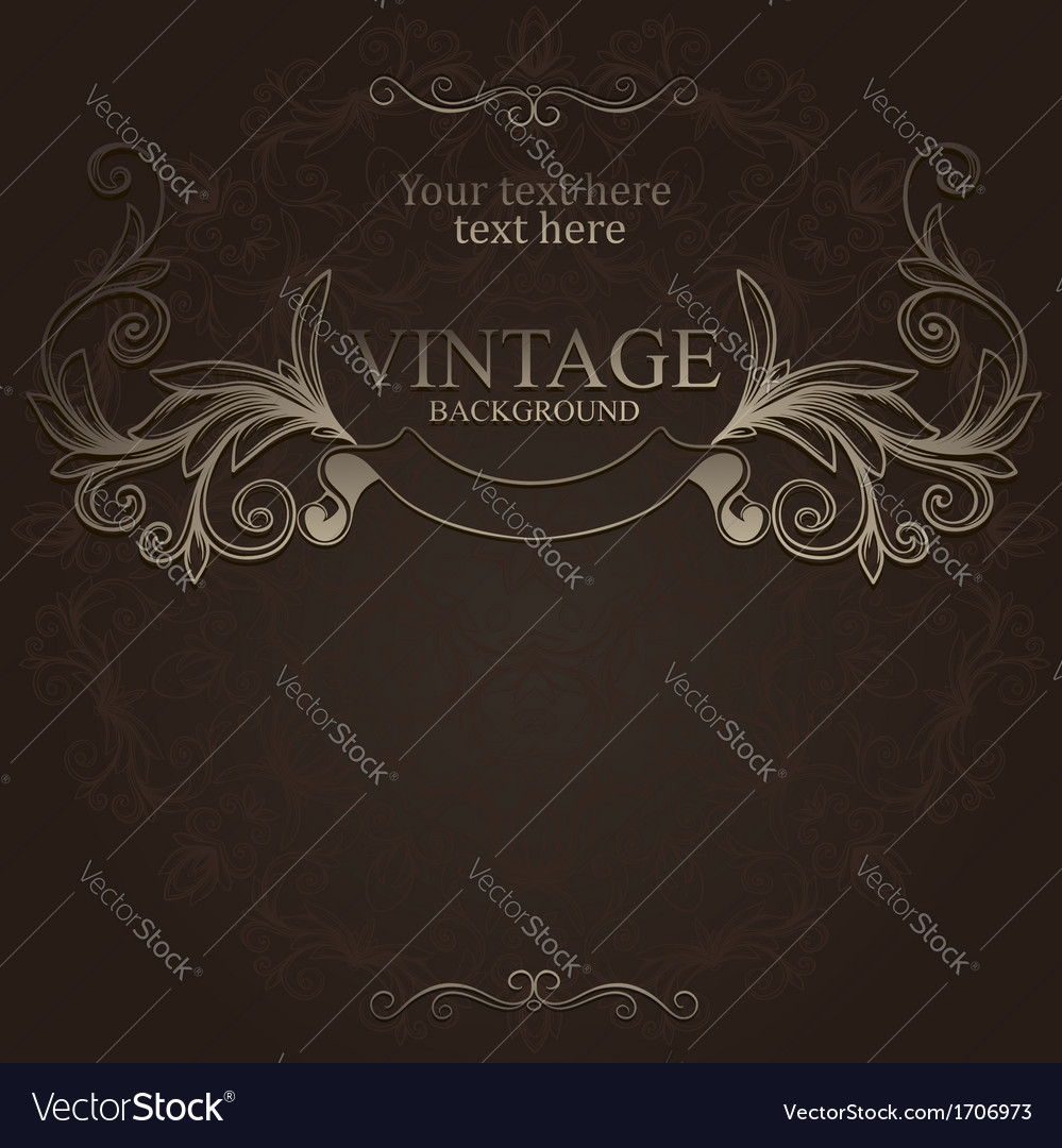Hand drawn vintage emblem with ribbon vector | Price: 1 Credit (USD $1)