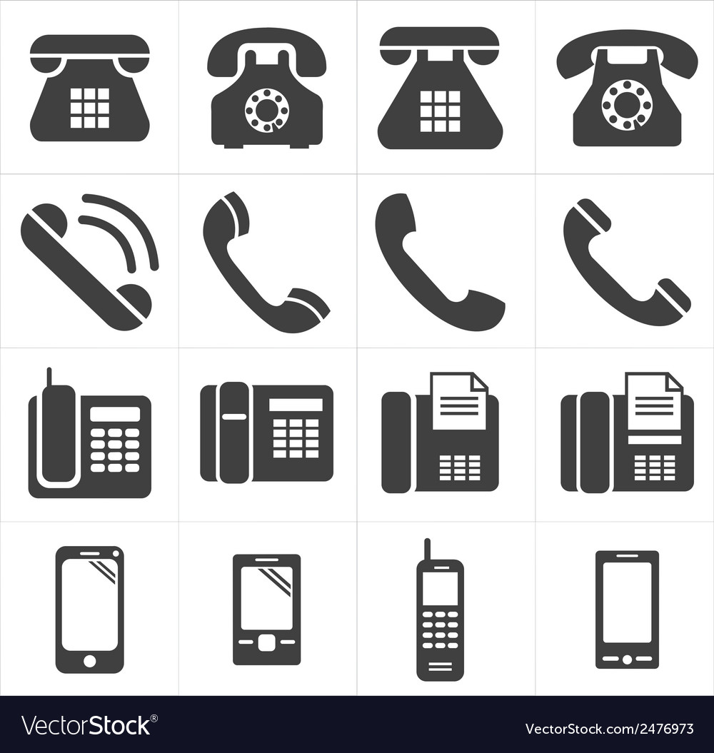 Icon telephone classic to smartphone vector | Price: 1 Credit (USD $1)