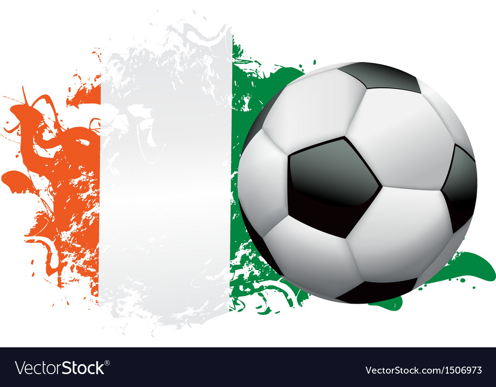 Ivory coast soccer grunge vector | Price: 1 Credit (USD $1)