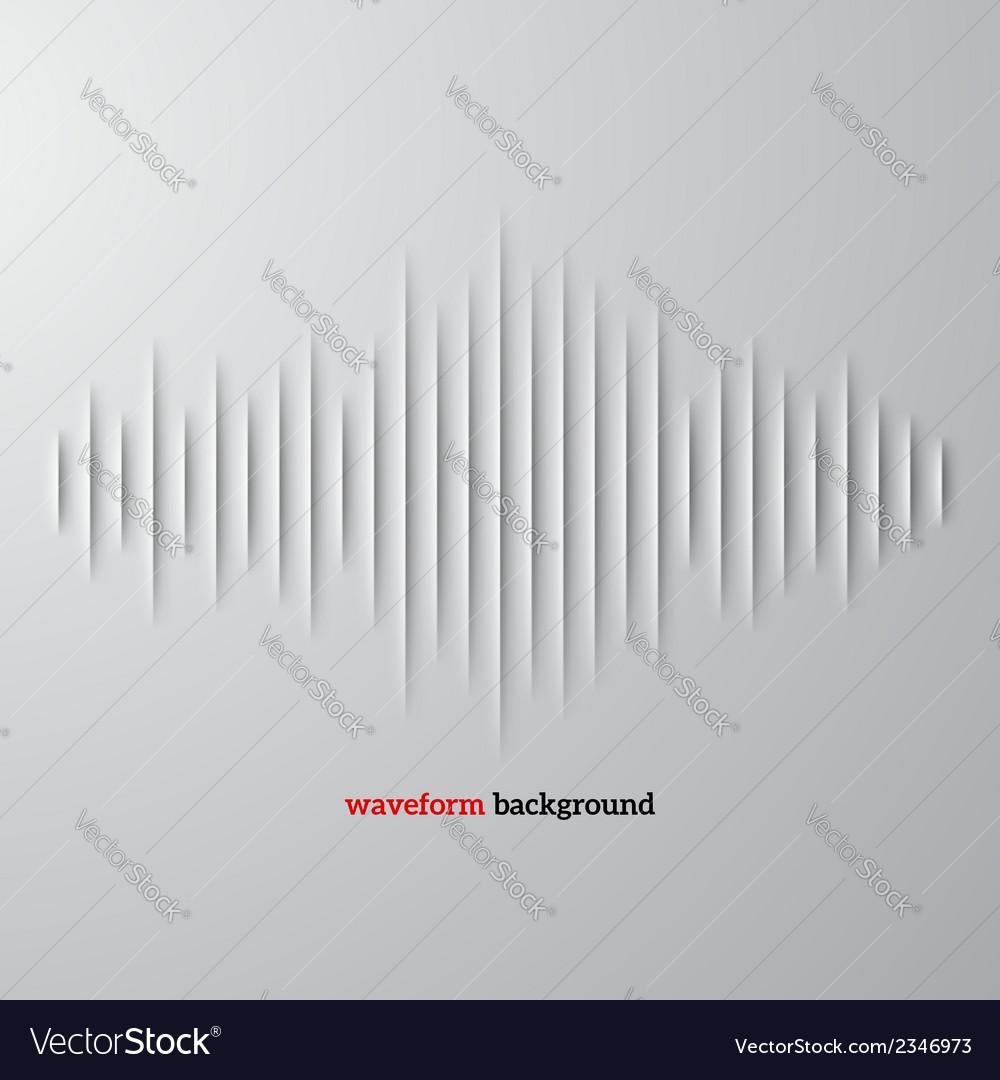 Paper sound waveform with shadow vector | Price: 1 Credit (USD $1)
