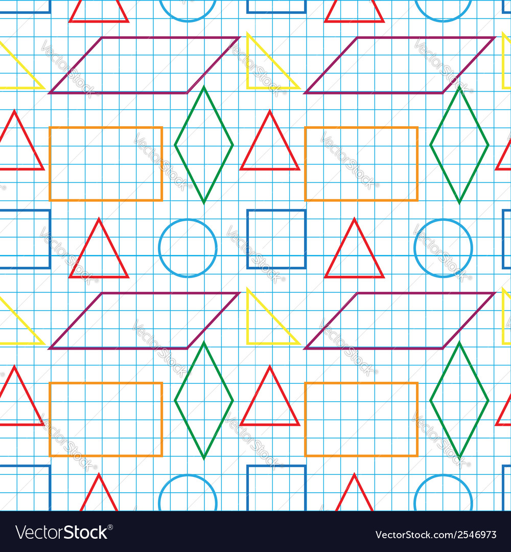 Seamless pattern with outlines of geomertical vector | Price: 1 Credit (USD $1)