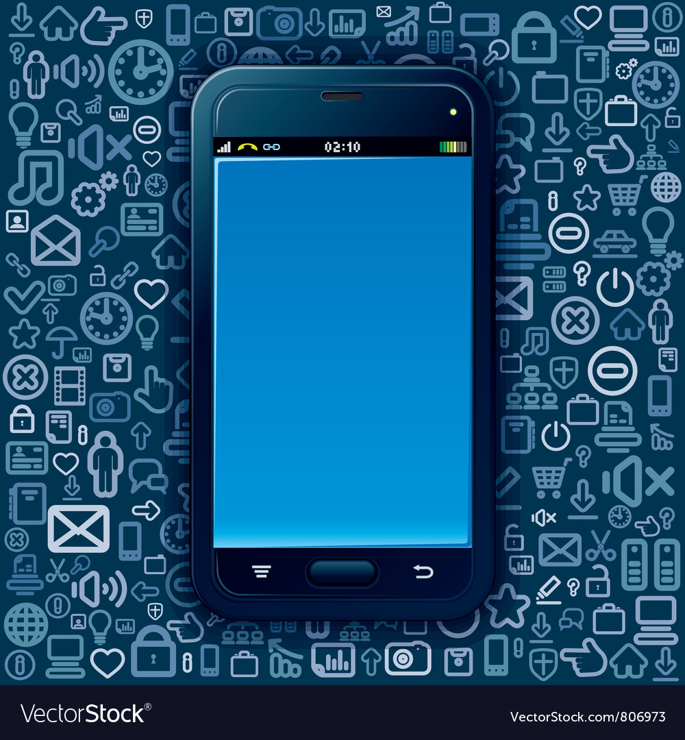 Smartphone background vector | Price: 3 Credit (USD $3)