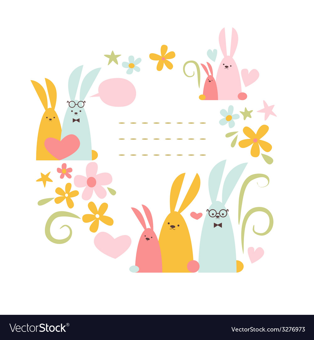Spring rabbits vector