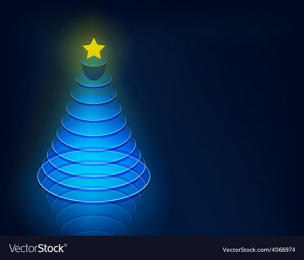 3d christmas tree vector | Price: 1 Credit (USD $1)