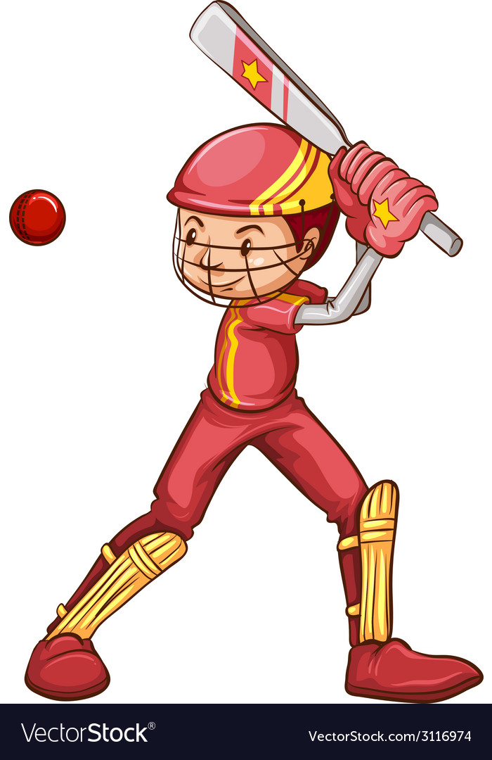A cricket player vector | Price: 1 Credit (USD $1)