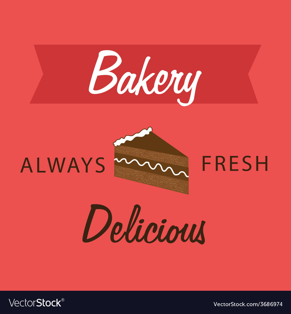 Bakery design over red background vector | Price: 1 Credit (USD $1)