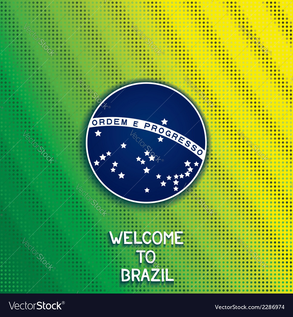 Bright background welcome to brazil vector | Price: 1 Credit (USD $1)