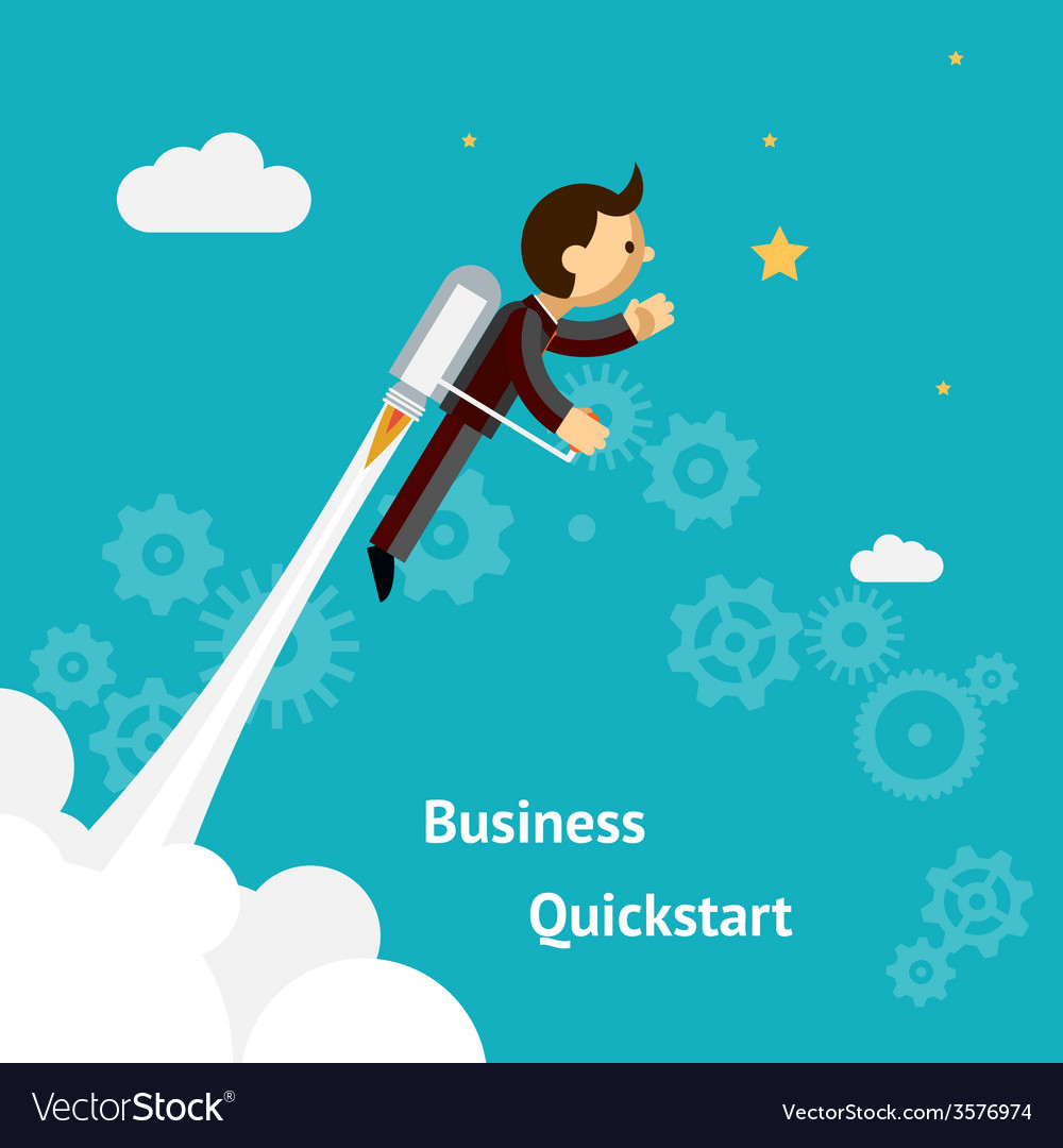Cartoon design for business growth and start up vector | Price: 1 Credit (USD $1)