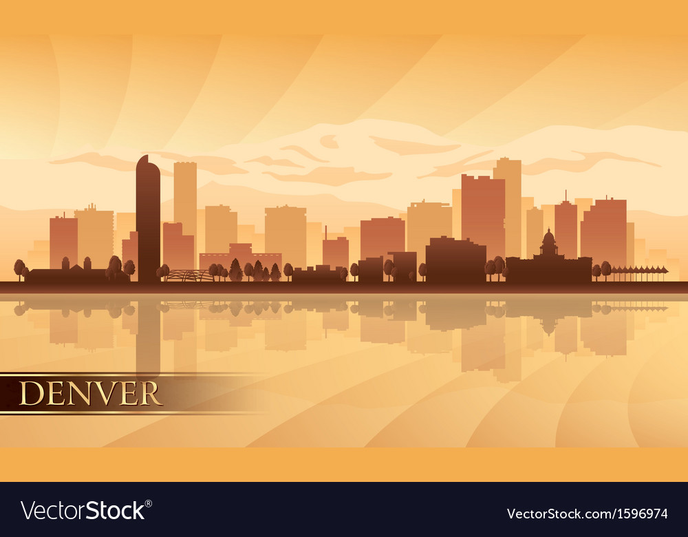 Denver city skyline silhouette background vector | Price: 1 Credit (USD $1)