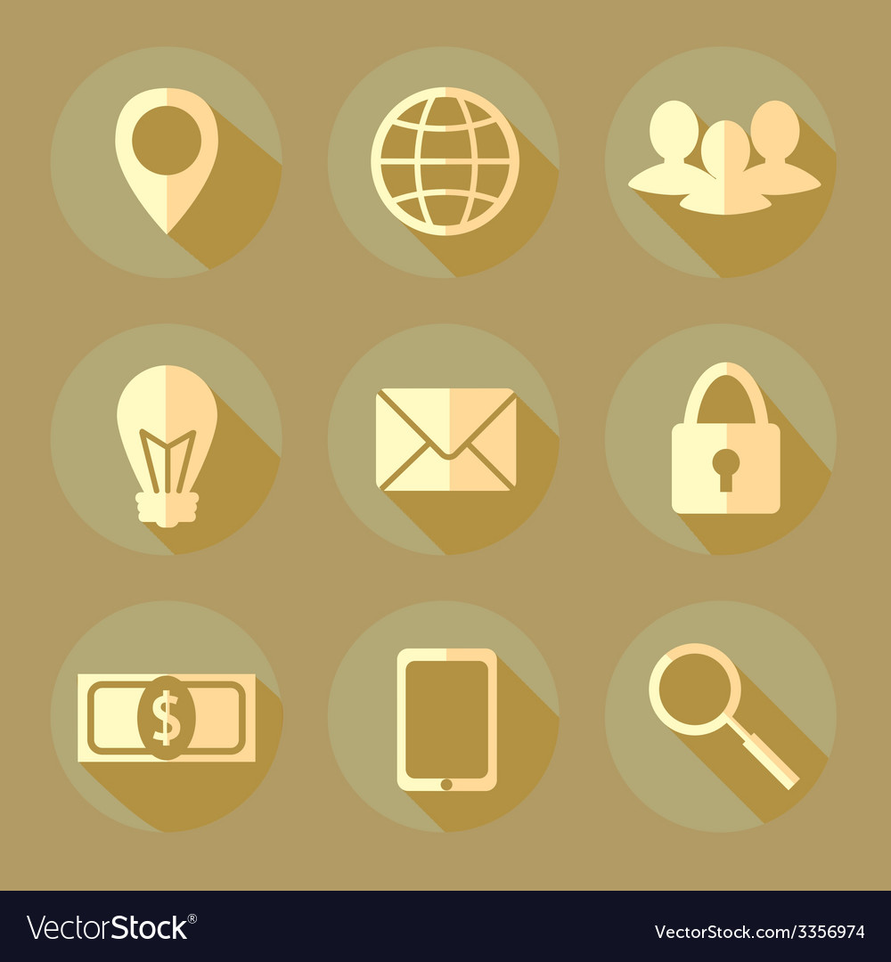 Flat bussiness icons vector | Price: 1 Credit (USD $1)