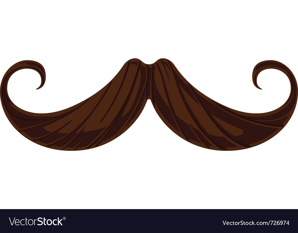 Handlebar mustache vector | Price: 1 Credit (USD $1)