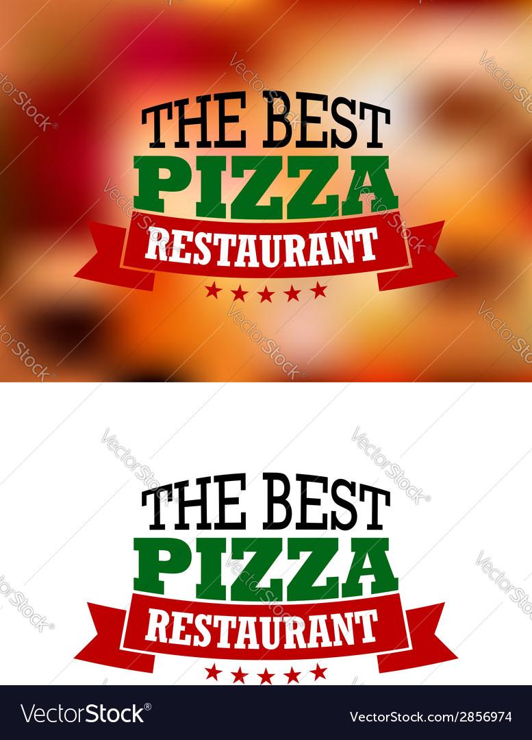 Italian pizza banner vector | Price: 1 Credit (USD $1)