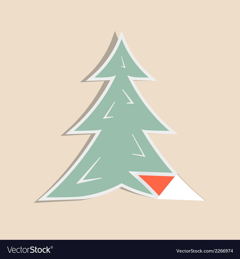 Paper fir - pine tree vector | Price: 1 Credit (USD $1)