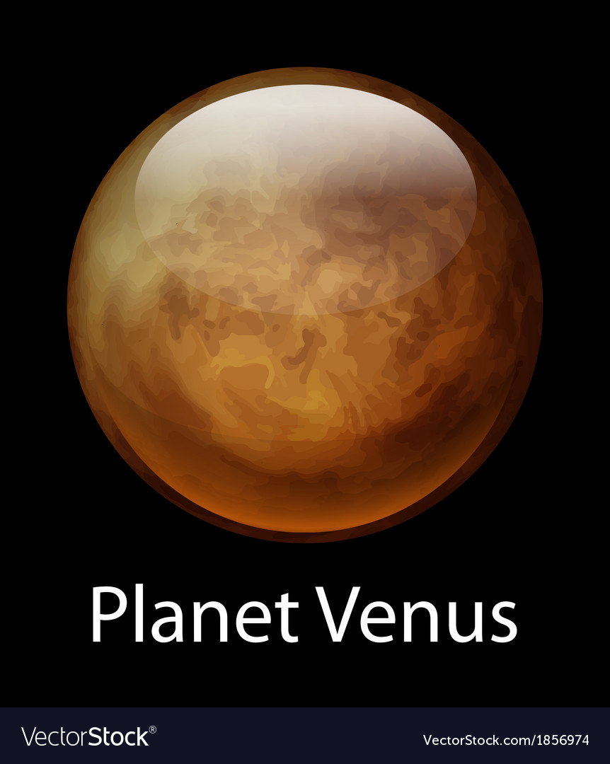 Planet venus vector | Price: 1 Credit (USD $1)