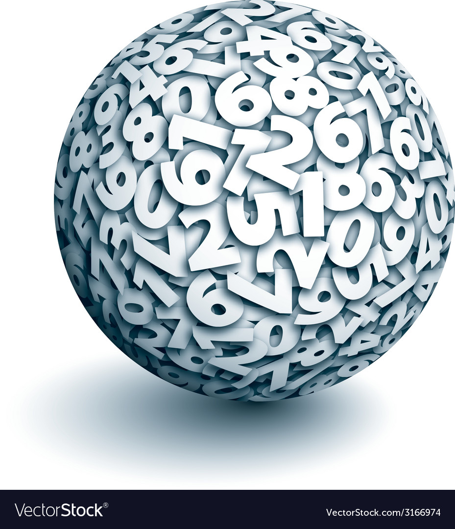 Sphere of numbers vector | Price: 1 Credit (USD $1)