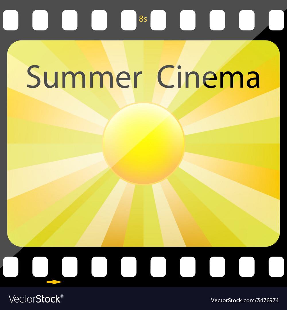 Summer cinema vector | Price: 1 Credit (USD $1)
