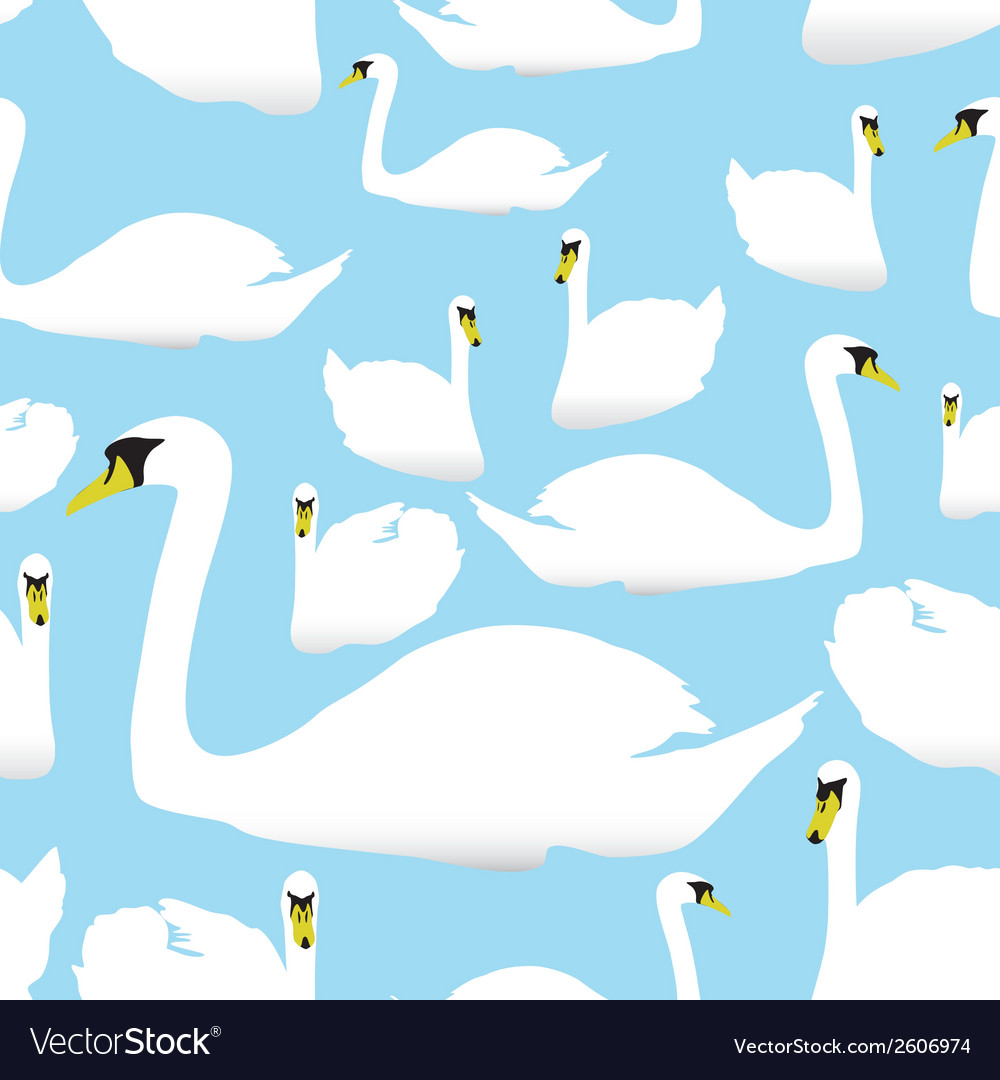 Swan on the watter pattern eps10 vector | Price: 1 Credit (USD $1)