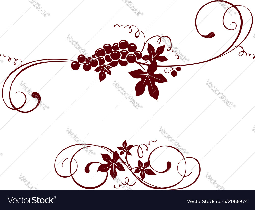 Vintage design element - grape vector | Price: 1 Credit (USD $1)