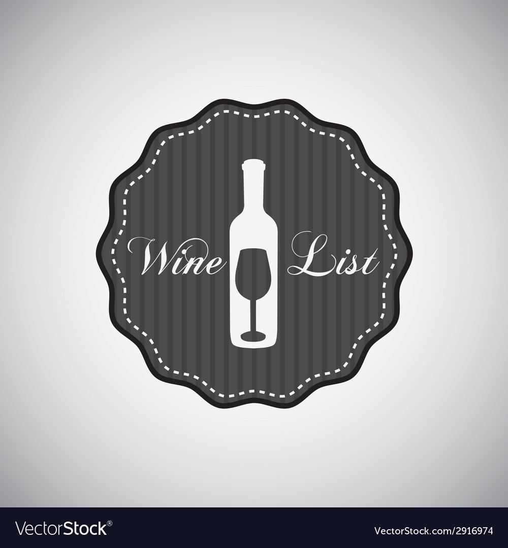 Wine bottle design vector | Price: 1 Credit (USD $1)