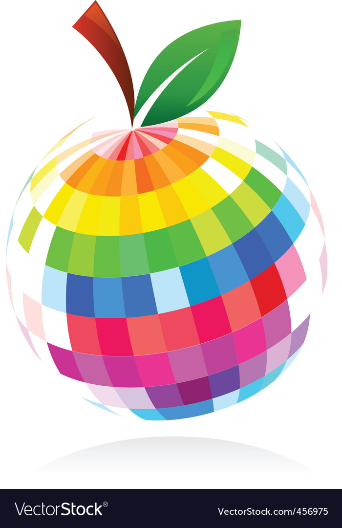 Abstract apple design vector | Price: 1 Credit (USD $1)