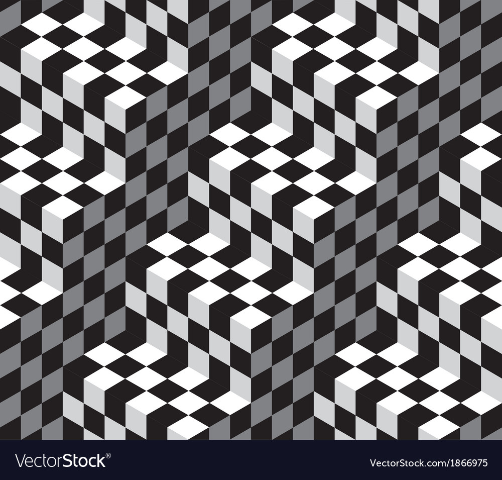 Black white abstract geometric seamless pattern vector | Price: 1 Credit (USD $1)