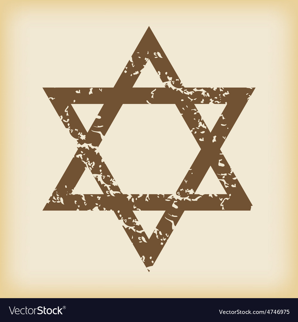 Grungy star of david icon vector | Price: 1 Credit (USD $1)