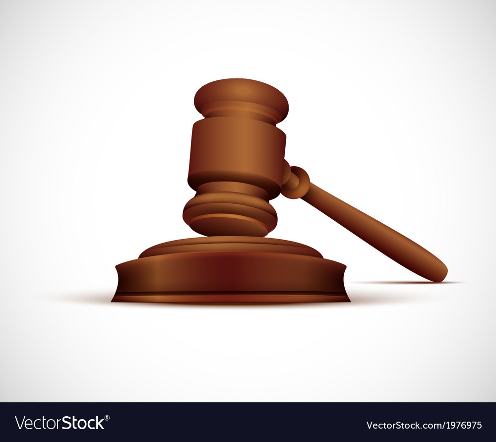 Judge gavel vector | Price: 1 Credit (USD $1)