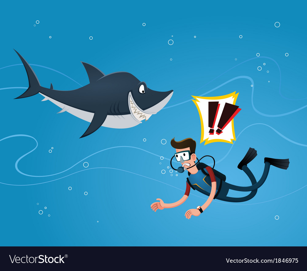 Meet a shark vector | Price: 1 Credit (USD $1)