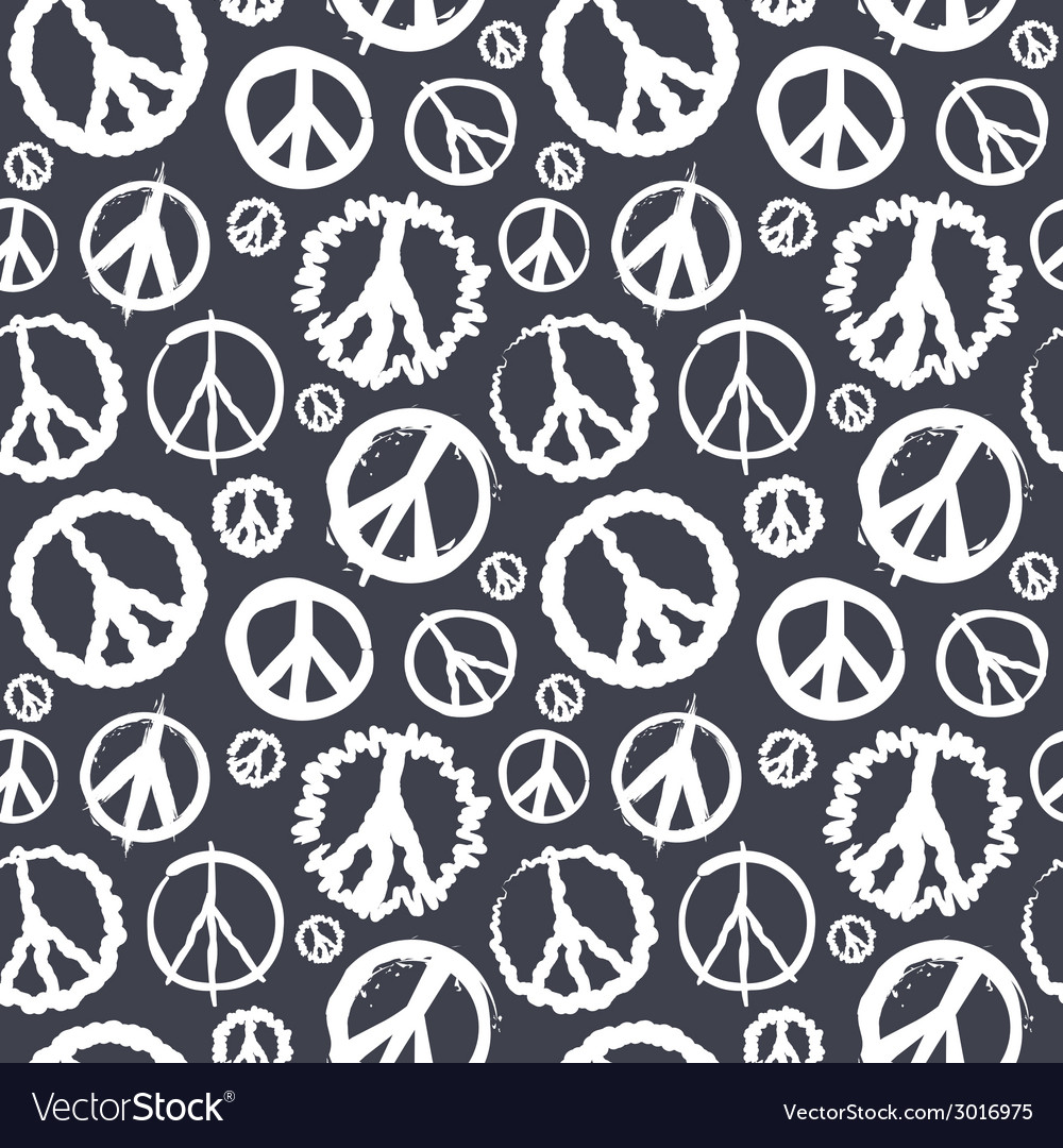 Retro peace symbol seamless vector | Price: 1 Credit (USD $1)