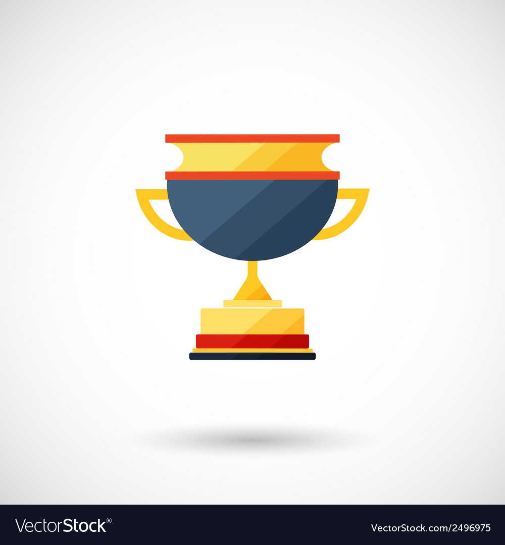 Symbol of a cup of the winner with a shadow vector | Price: 1 Credit (USD $1)