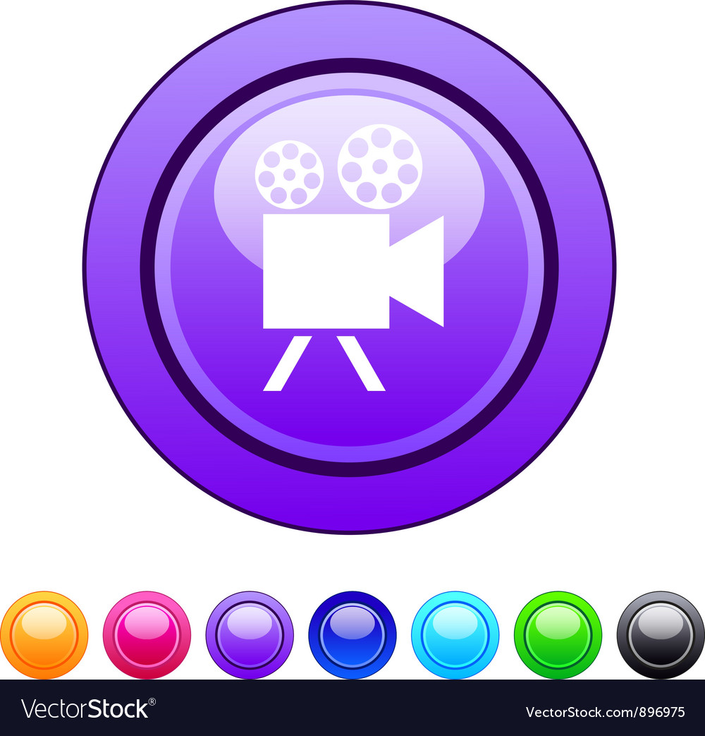 Video camera circle button vector | Price: 1 Credit (USD $1)