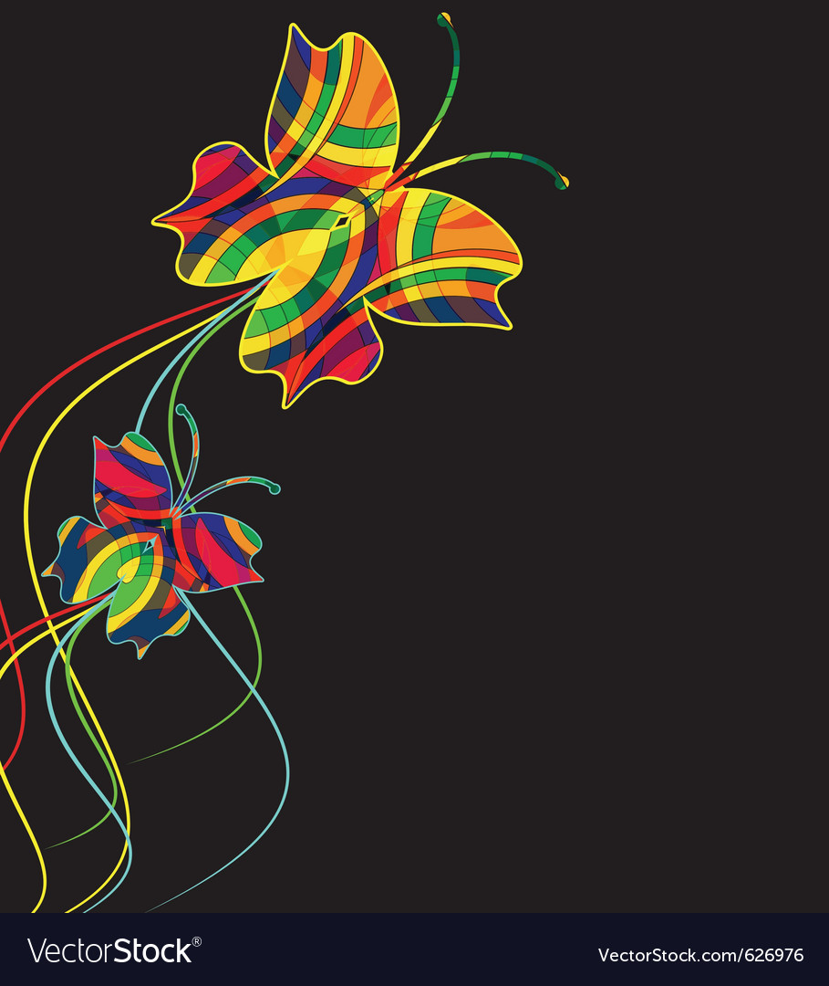 Abstract background from multi-colored butterflies vector | Price: 1 Credit (USD $1)