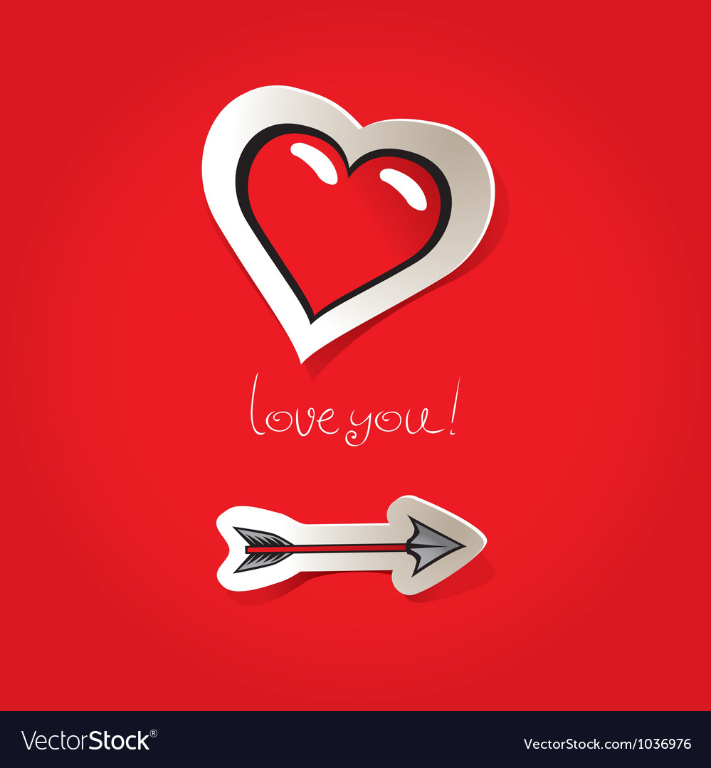 Arrow heart vector | Price: 1 Credit (USD $1)