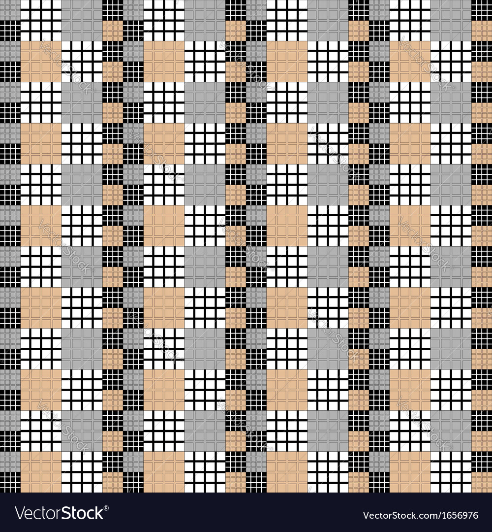 Design seamless vertical checked pattern vector | Price: 1 Credit (USD $1)