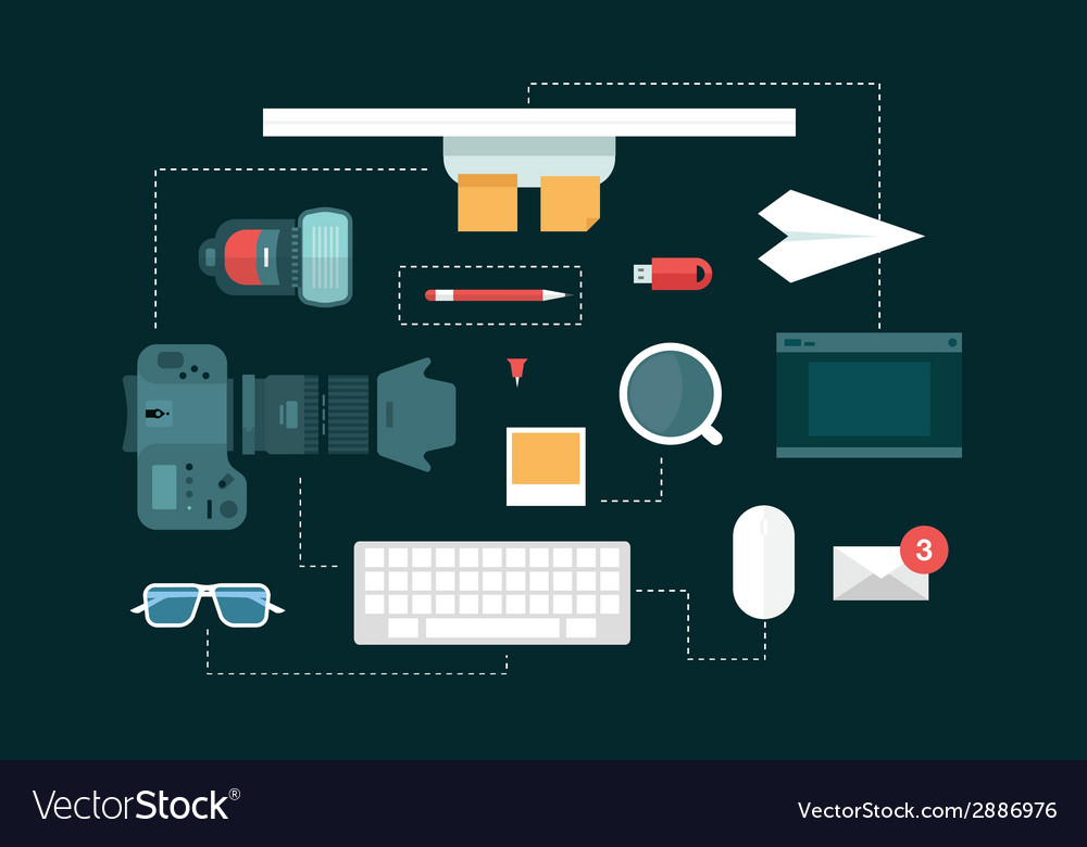 Desk header vector | Price: 1 Credit (USD $1)