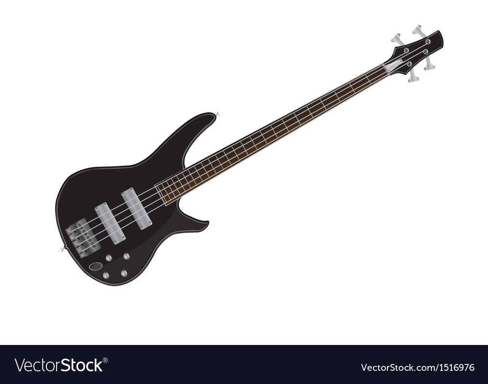 Electric bass guitar images vector | Price: 1 Credit (USD $1)