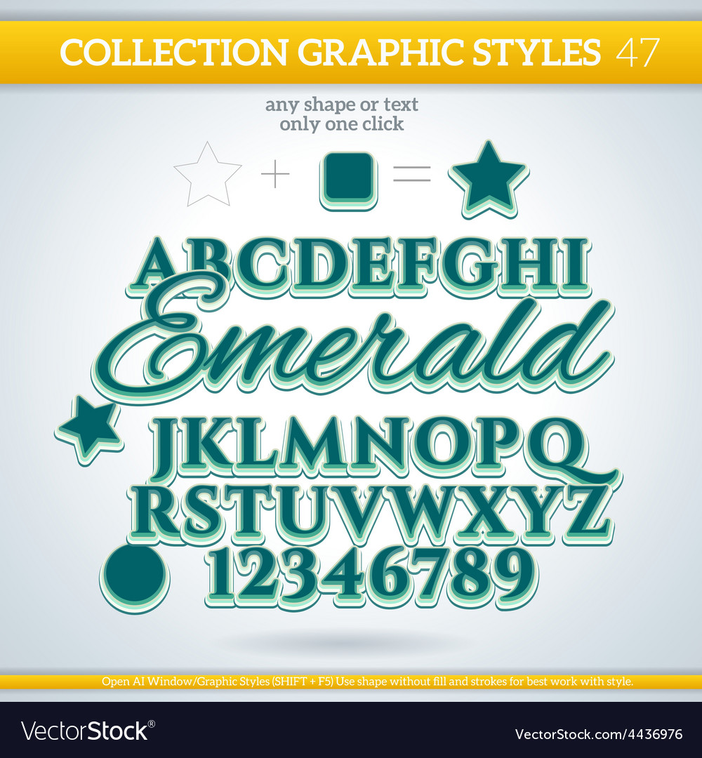 Emerald graphic styles for design use for decor vector | Price: 1 Credit (USD $1)