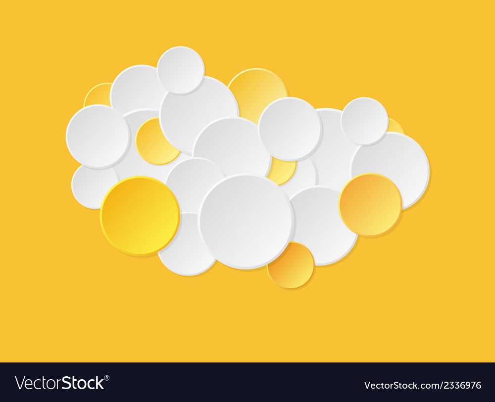 Gradient circles in yellow color vector | Price: 1 Credit (USD $1)
