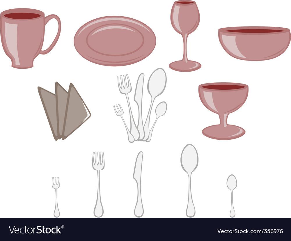 Kitchenware icons vector   Price: 1 Credit (USD $1)