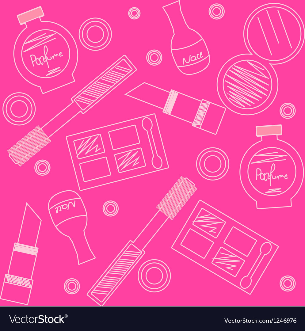 Makeup seamless pattern vector | Price: 1 Credit (USD $1)