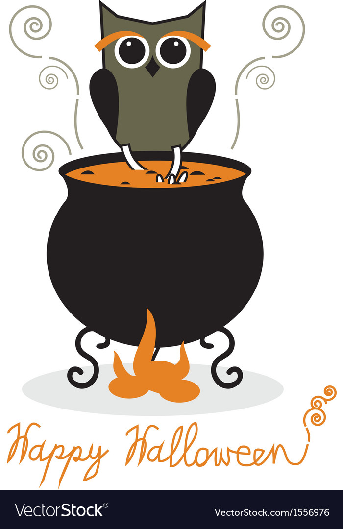Owl and cauldron vector   Price: 1 Credit (USD $1)