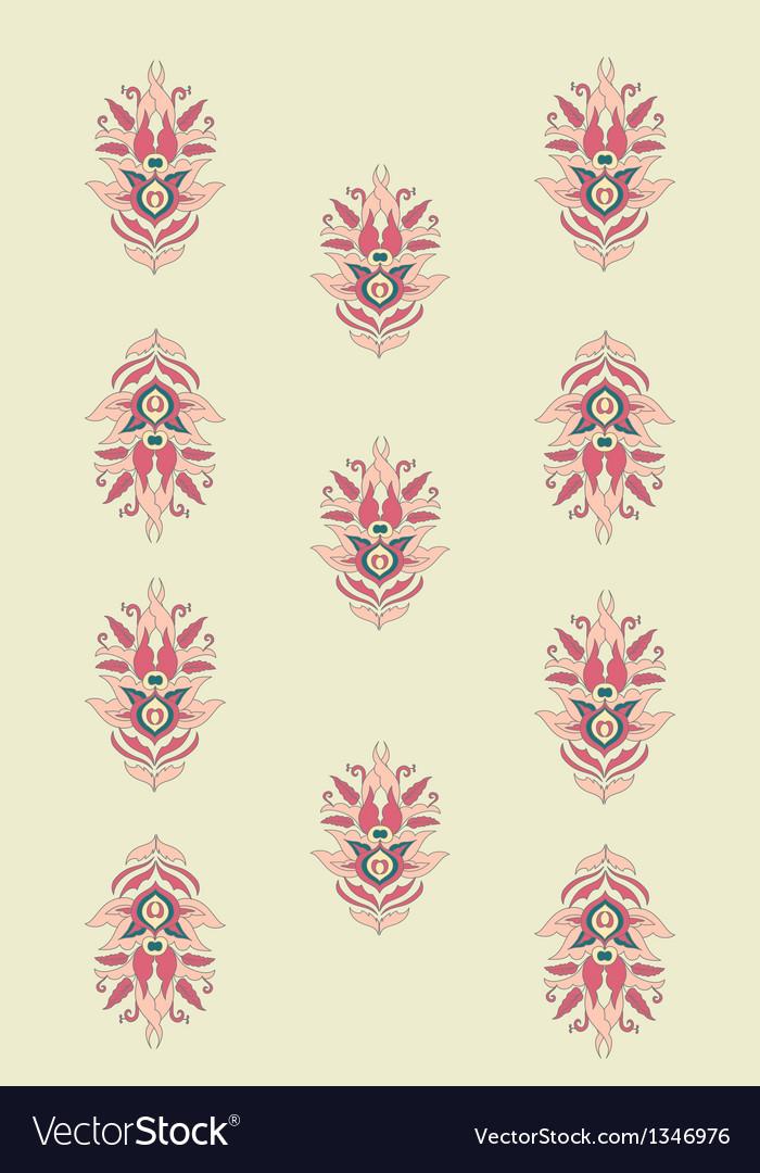 Set classic design indian element vector | Price: 1 Credit (USD $1)