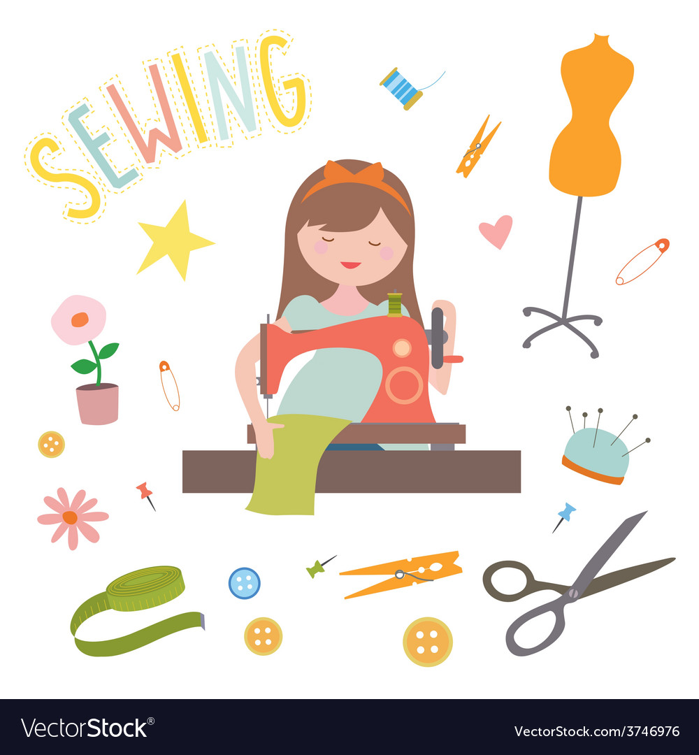 Sewing clip art vector | Price: 1 Credit (USD $1)