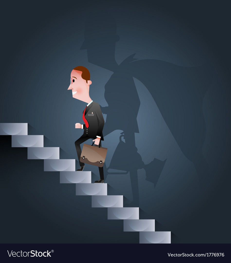 Stairway to success business concept vector | Price: 1 Credit (USD $1)