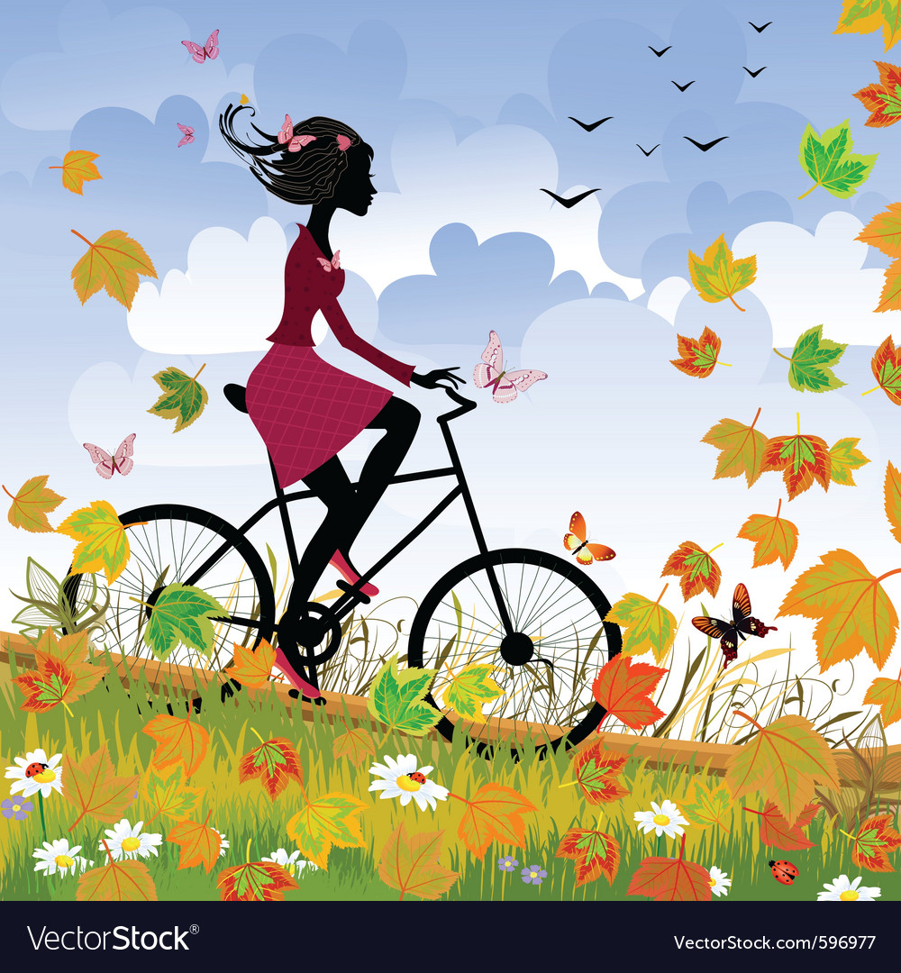 Bike outdoors vector | Price: 3 Credit (USD $3)